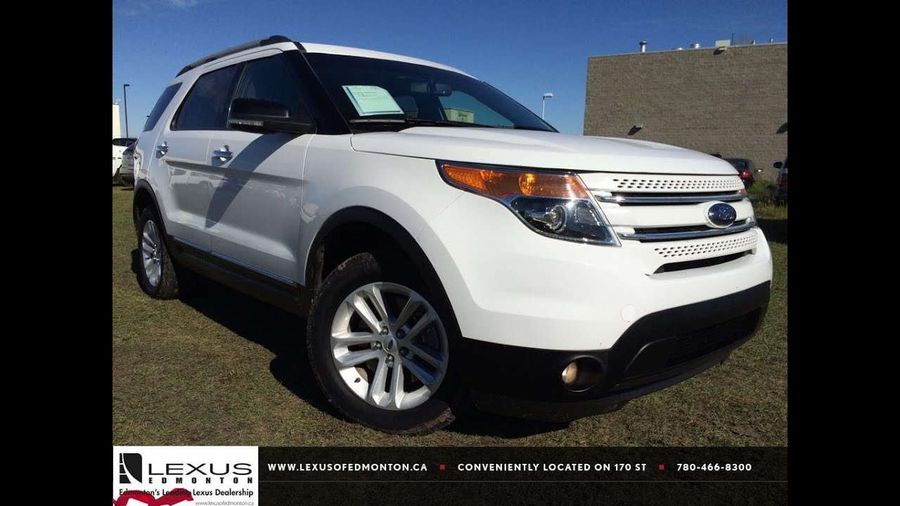 White Ford Explorer >> Pre Owned White 2013 Ford Explorer 4wd Xlt In Depth Review Camrose Alberta