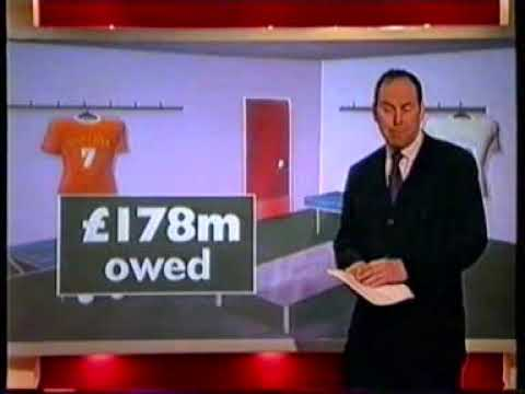 BBC Six O'Clock News report on collapse of ITV Digital
