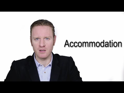 Accommodation - Meaning   Pronunciation    Word Wor(l)d - Audio Video Dictionary