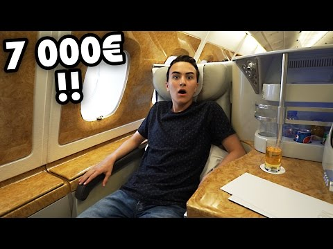 LE SIÈGE D'AVION QUI COÛTE 7 000€ (Business Class A380) | HugoPOSAY
