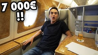 THE $7,000 AIRPLANE SEAT (Emirates Business Class A380)