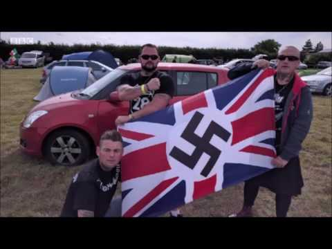 Neo Nazi Rally in Cambridge UK for two days No Police No Arrests honour of British Founder