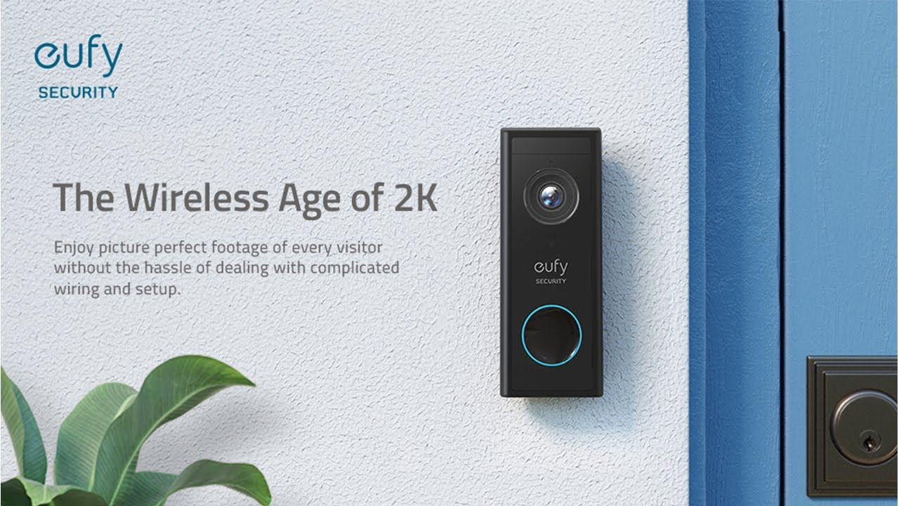 eufy Security No Monthly Fee Simple Self-Installation On-Device AI for Human Detection Wireless Video Doorbell 2-Way Audio with 2K HD Battery-Powered