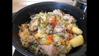 Овощное рагу с курицей!Вкусно,быстро и полезно!!!Готовим каждую неделю!