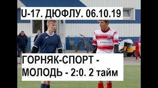 U 17. Горняк Спорт   Молодь   20 10. 2 тайм. 06.10.19