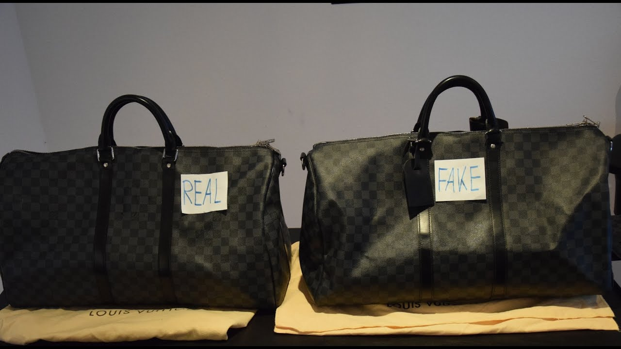 007d20020e6a Louis Vuitton Keepall Real vs. Fake - YouTube