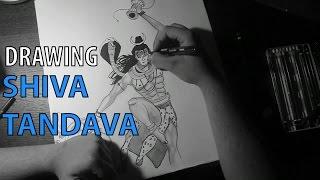 Shiva Tandava - Drawing time lapse - speed sketch/drawing (shiva tandav music)