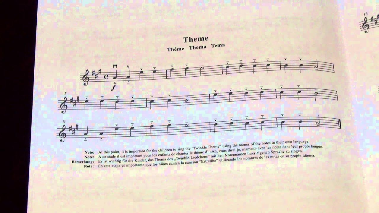 twinkle twinkle little star variations suzuki violin book 1