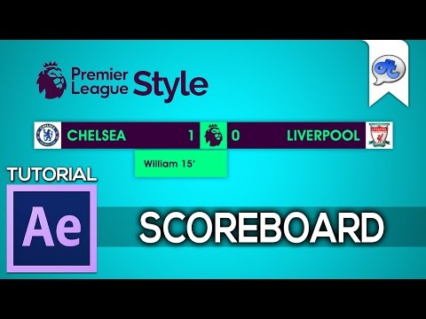 Adobe After Effects | TUTORIAL #36 : SCOREBOARD - EPL STYLE (Bahasa Indonesia)