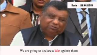 "Social Welfare MP Declares Protesters Be ""Shot on Sight""[Sub]-Jan 22, 2015"