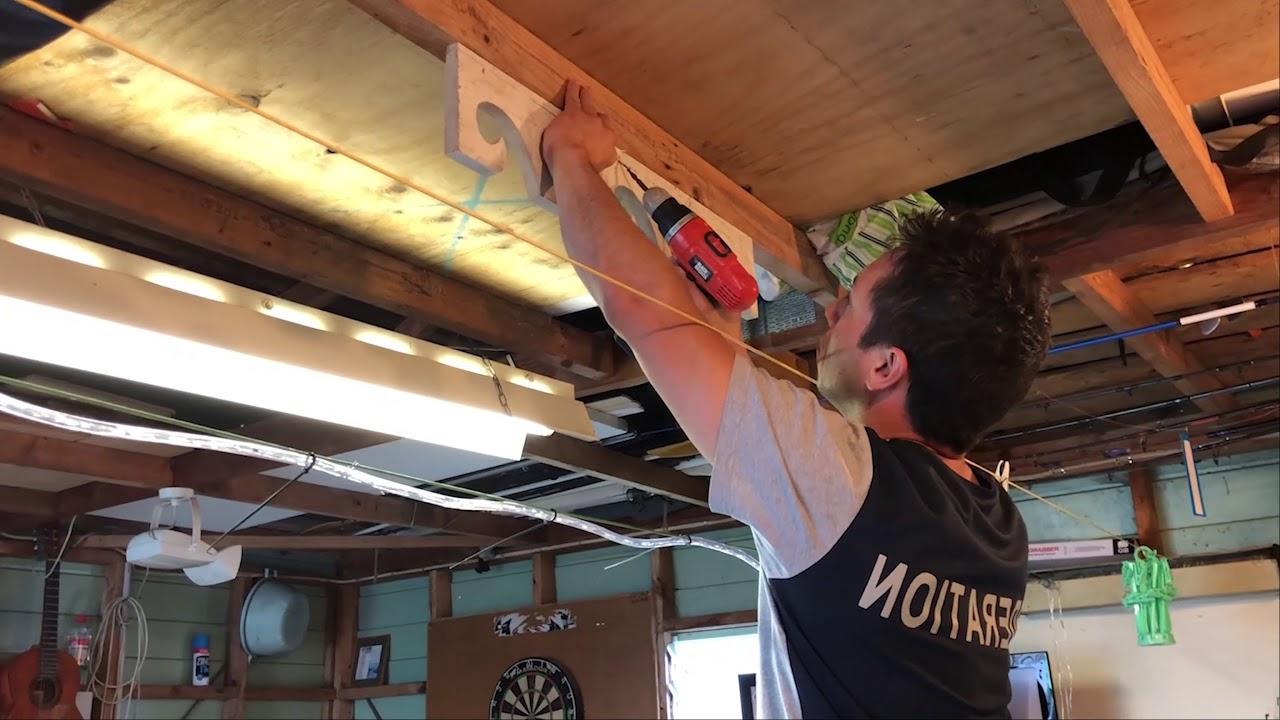 DIY FIshing Rod Holder Ceiling Mounted