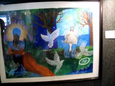 Lynn Marshall-Linnemeier Showcases Mixed Media Art at National Black Arts Festival.wmv