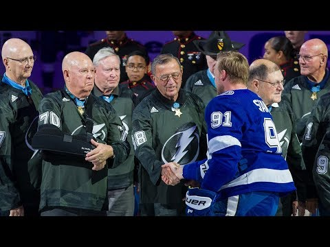 Maverick - Tampa Bay Lightning honor 46 of the 70 living Medal of Honor recipients