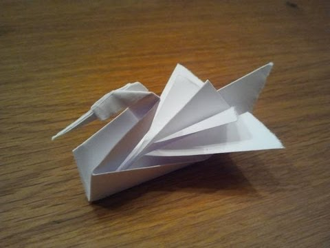 how to make an origami swan youtube