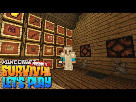 REDSTONE STUFF! - MCPE 1.0 Survival Let's Play EP.9 - Minecraft PE (Pocket Edition)