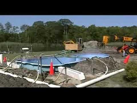 Fiberglass Pool Installation Youtube