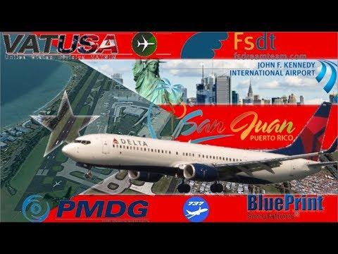 Flying to San Juan, Puerto Rico Before Hurricane Irma - PMDG 737NGX on Vatsim FSDT KJFK - TJSJ - Duration: 4:28:40.