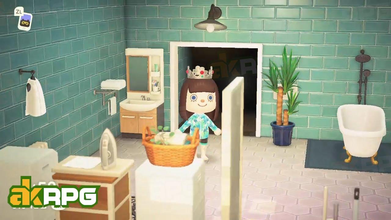 How To Decorate Your Animal Crossing Bathroom Retro Acnh Bathroom Design Ideas Youtube