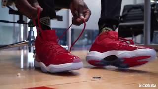 Air Jordan 11 'Win Like '96' ON FOOT