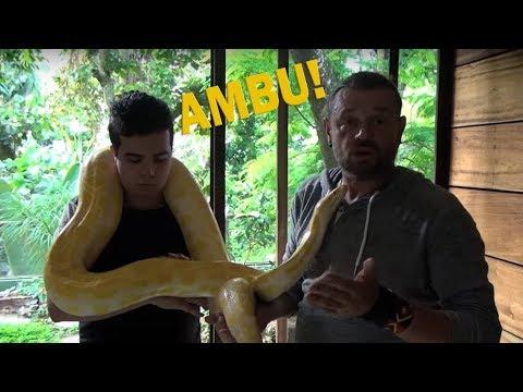 COLOQUEI UMA PITON EM CIMA DO AMBU! | RICHARD RASMUSSEN