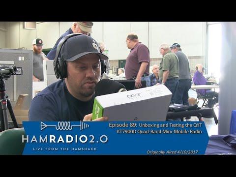 Ham Radio 2.0: Episode 89 - Unboxing the QYT KT7900D Quad-Band Mini-Mobile Radio