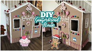 DIY Cardboard Gingerbread House | Cardboard Playhouse