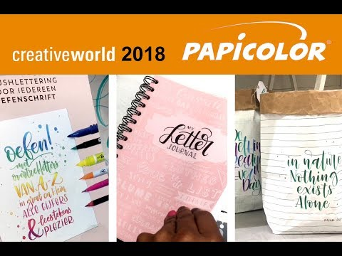 Paperbags & Bulletjournals; Papicolor Creative World 2018 Frankfurt