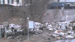 Расстрел на Институтской 20 февраля. Неопубликованное видео