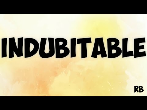 INDUBITABLE : MEANING WITH EXAMPLE