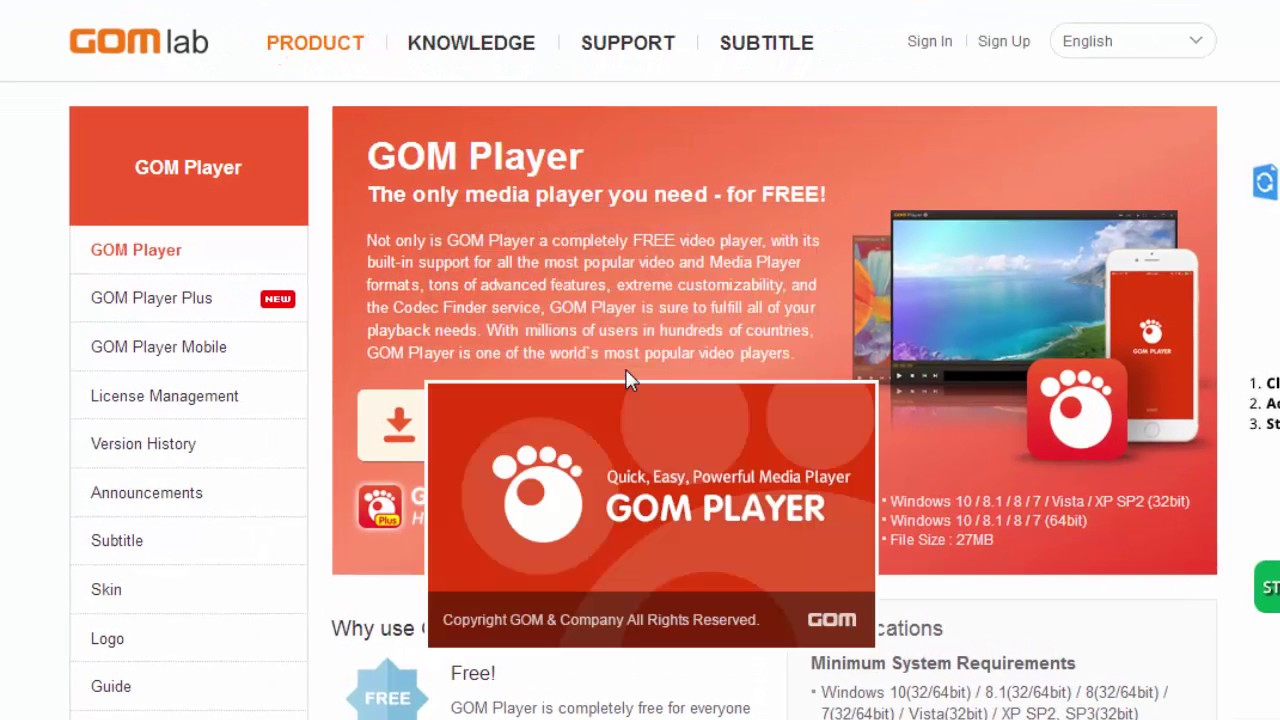 download gom player untuk pc windows 7