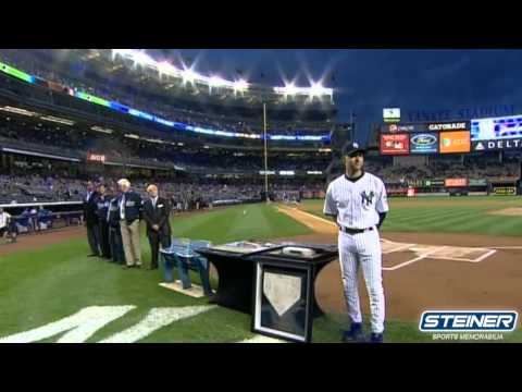 Jeter Yankee Hit Milestone Ceremony With Brandon Steiner
