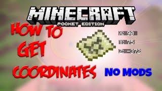 HOW TO GET COORDINATES IN 0.16.0 - No Mods! Minecraft PE