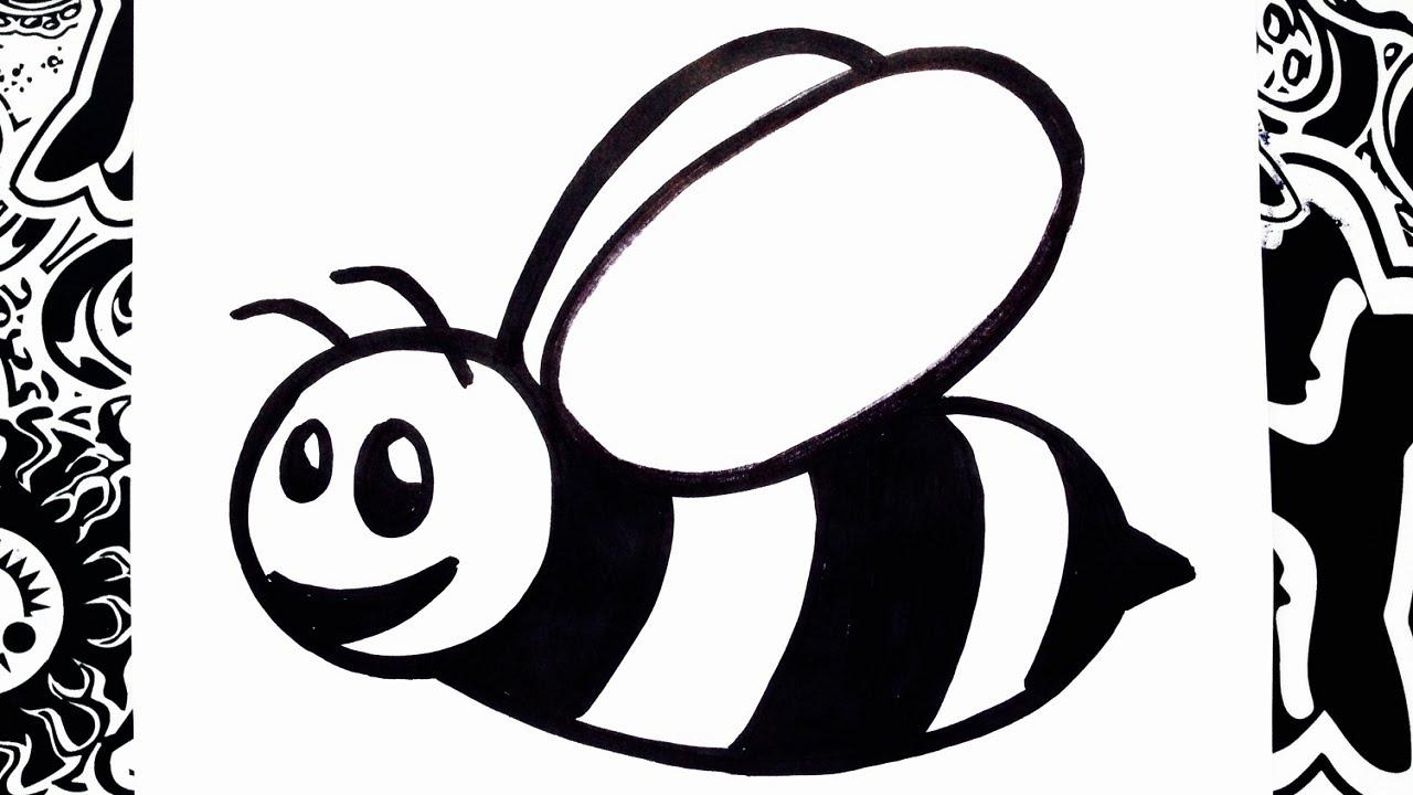 como dibujar una abeja  how to draw a bee  YouTube