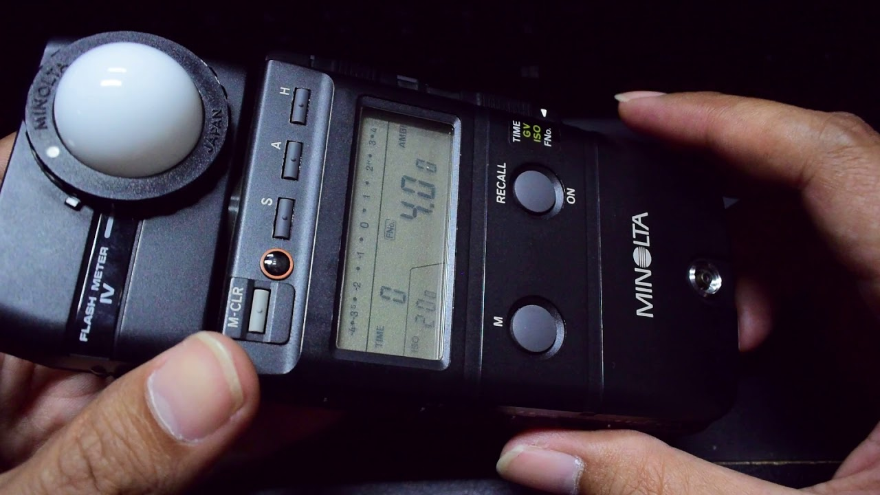 how 02 to use minolta flash meter iv part 1 youtube rh youtube com minolta auto meter iv manual minolta auto meter iv f manual pdf