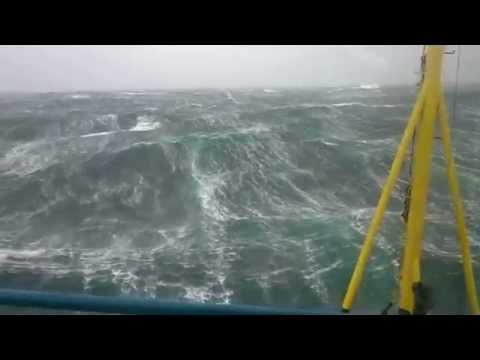 Offshore vessel bad weather