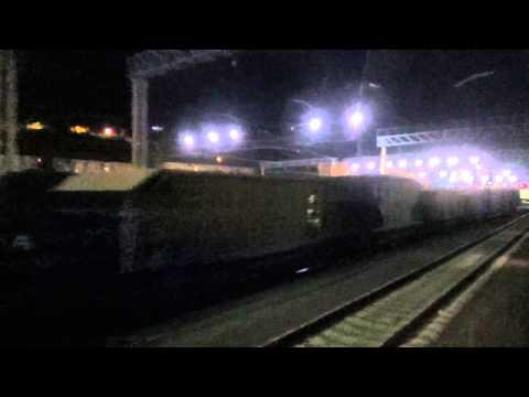 РЖД поезд 464 ночная станция Туапсе  2 часть