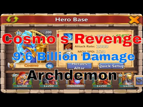 Castle Clash Archdemon 9.6 Billion Damage: Area Damage, Deflects Damage, Immune To Energy Reduction
