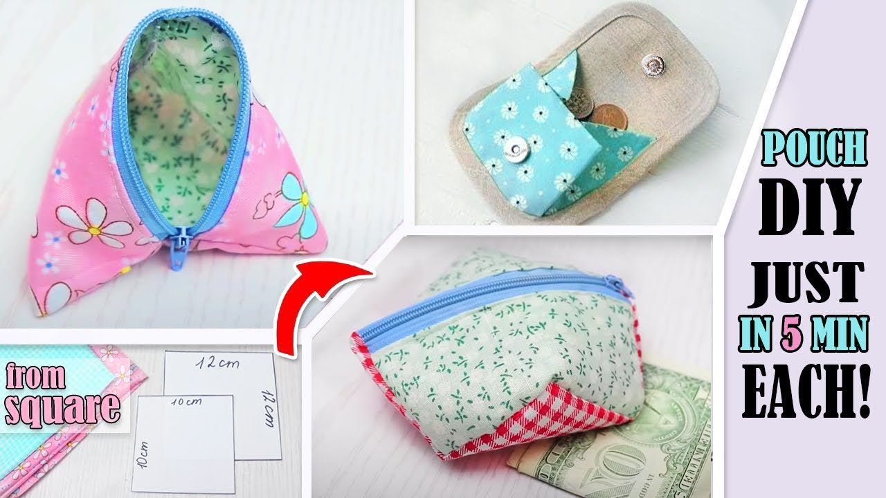 3 Diy Simple Pouch Ideas Just From