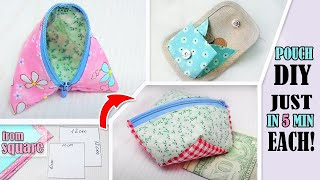 3 DIY SIMPLE POUCH IDEAS JUST …