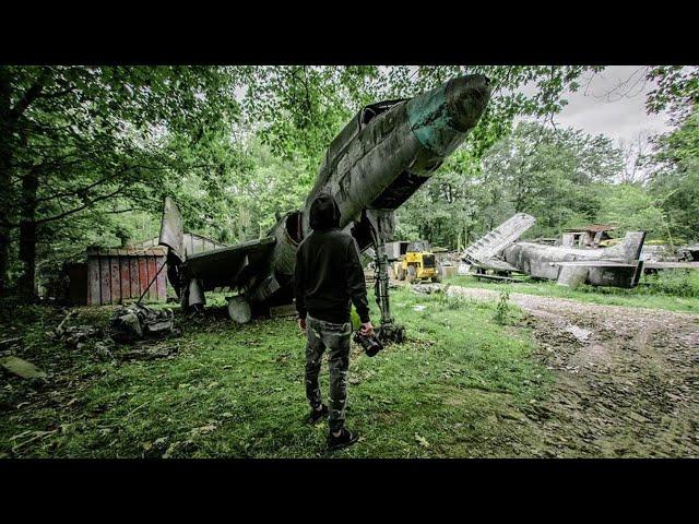 Exploring ABANDONED Warplane Graveyard