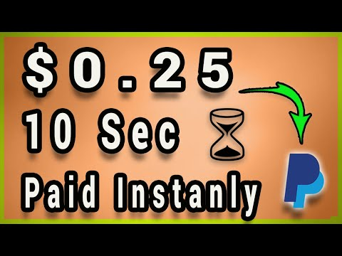 Earn $0.25 Every 10 Secs - Free Paypal Money Instantly