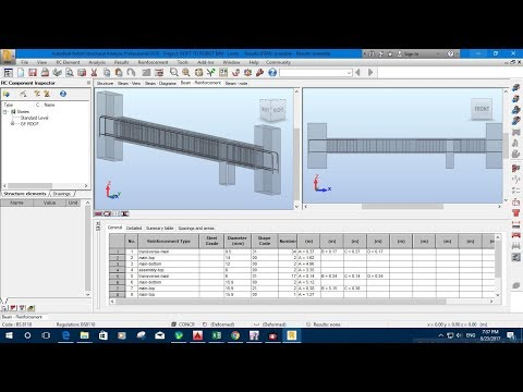 6. Provided Reinforcement Details in Autodesk Robot Structural Analysis 2018