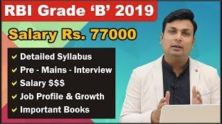 RBI GRADE B 199 Posts | Salary Rs. 77000 | Detailed Syllabus | Exam Preparation | Strategy