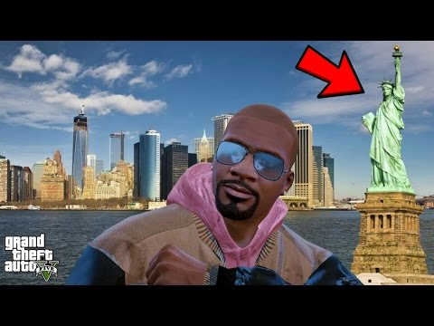 GTA 5 REAL LIFE MOD #301 TRIP TO NEW YORK! (LIBERTY CITY)