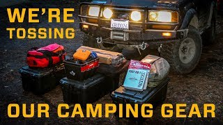 We're Tossing Our Camping Gear
