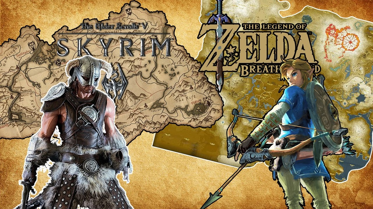 Skyrim Vs. Breath Of The Wild maps (A Walking Comparison) on ikana map, hyrule map, pokemon map, kingdom hearts map, ocarina of time map, castlevania 2 map, minecraft map, mario world map, wind waker map, castlevania 3 map, gta map, harvest moon map, zilla map, skyward sword map, smash brothers map, metroid map, star wars map, oracle of ages map, super mario map, mario kart map,
