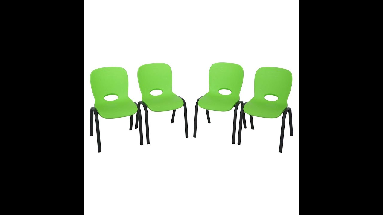 Lifetime Children s Green Stacking Chairs 4 pack
