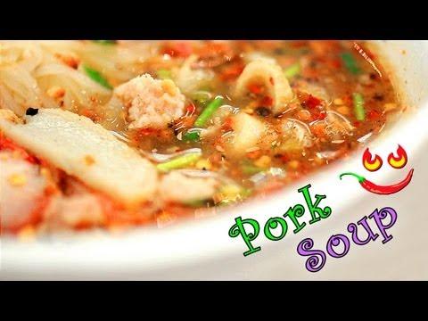 0 Thai Pork Noodle Soup   Thailand Street Food Video   Thai Soup Recipe