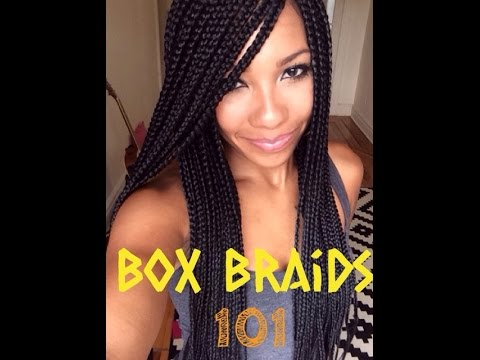 Box Braids On Natural Hair Youtube