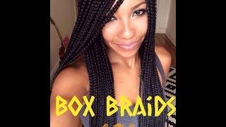 box braids on natural hair